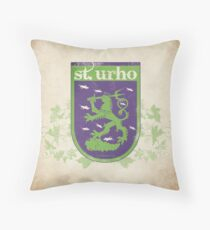 St. Urho Coat of Arms - Square Throw Pillow