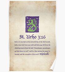 St. Urho 3:16 Poster