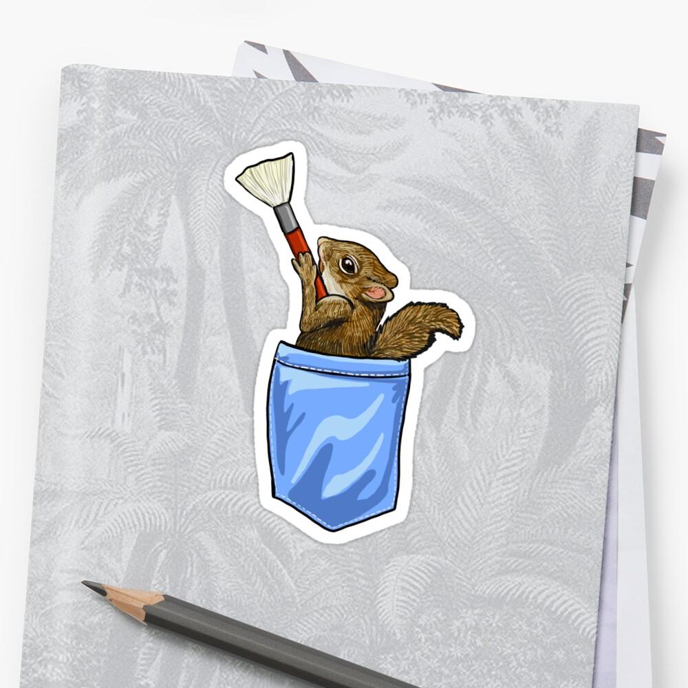 Happy Little Squirrel Sticker