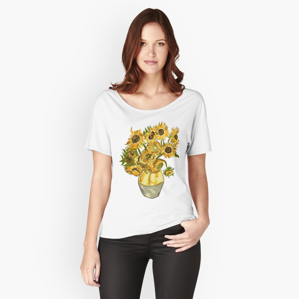 Still Life with Sunflowers Relaxed Fit T-Shirt