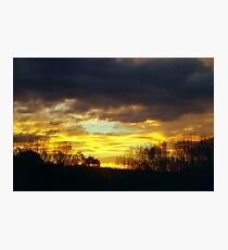 Autumn Sunrise Silhouette Photographic Print