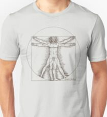 Vitruvian man by Leonardo Da Vinci  Unisex T-Shirt