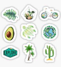 Nature Green Blue Pack Sticker