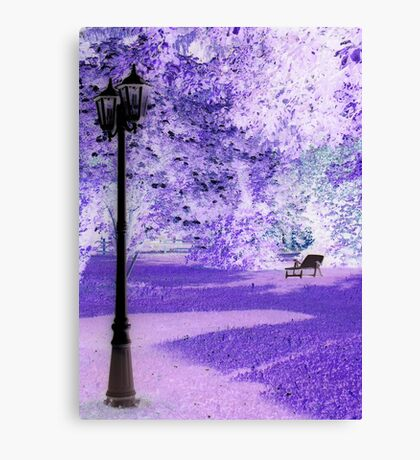 "A Romantic Bavarian Beergarden featured in ""A fascinating purple"" Canvas Print"