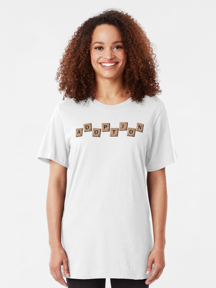 Alternate view of Spell It Out Adoption Shirt Slim Fit T-Shirt