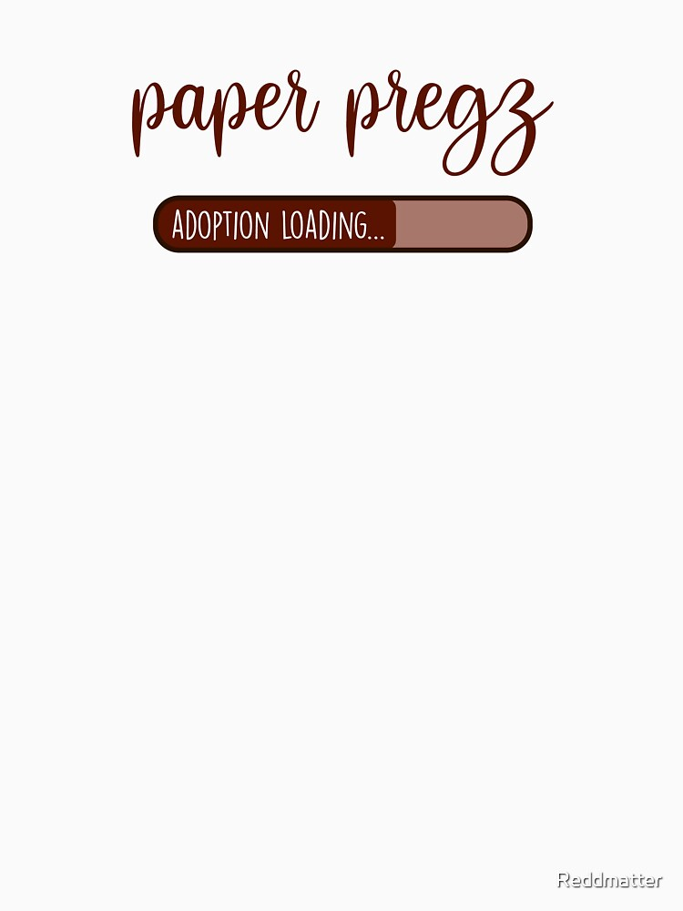 Paper Pregz in Burgandy Adoption Shirt by Reddmatter