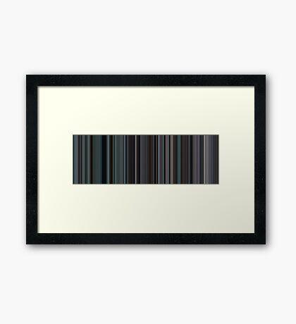 Moviebarcode: Brokeback Mountain (2005) [Simplified Colors] Framed Print