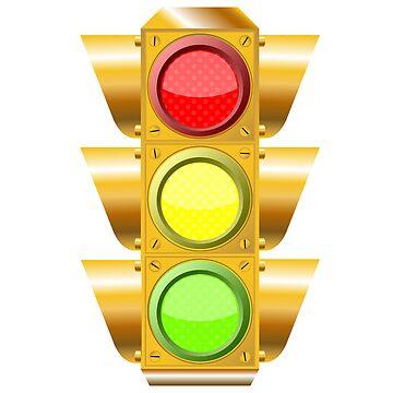 Cross road traffic lights by robertosch