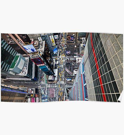 Manhattan in motion - bird's eye Times Square Poster