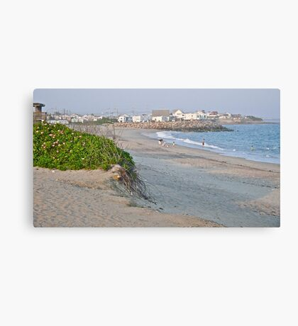 First Day at the Beach at Dusk - Matunuck - Rhode Island Canvas Print