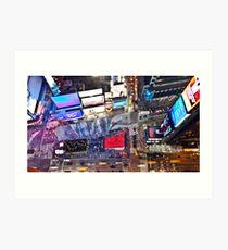 Manhattan in motion - Times Square  Art Print