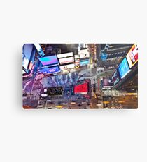 Manhattan in motion - Times Square  Metal Print