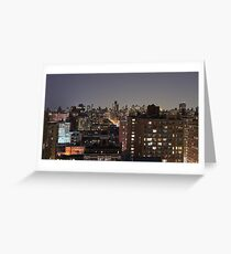 Manhattan in motion - upper west side  Greeting Card