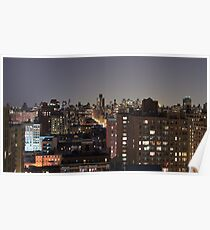 Manhattan in motion - upper west side  Poster