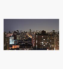 Manhattan in motion - upper west side  Photographic Print