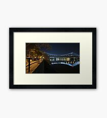 Manhattan in motion - Astoria park Framed Print