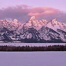 Grand Teton Winter Sunrise by Stephen Vecchiotti