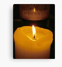 guiness glass of beer Canvas Print