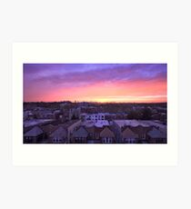 Manhattan in motion - Queens sunset Art Print