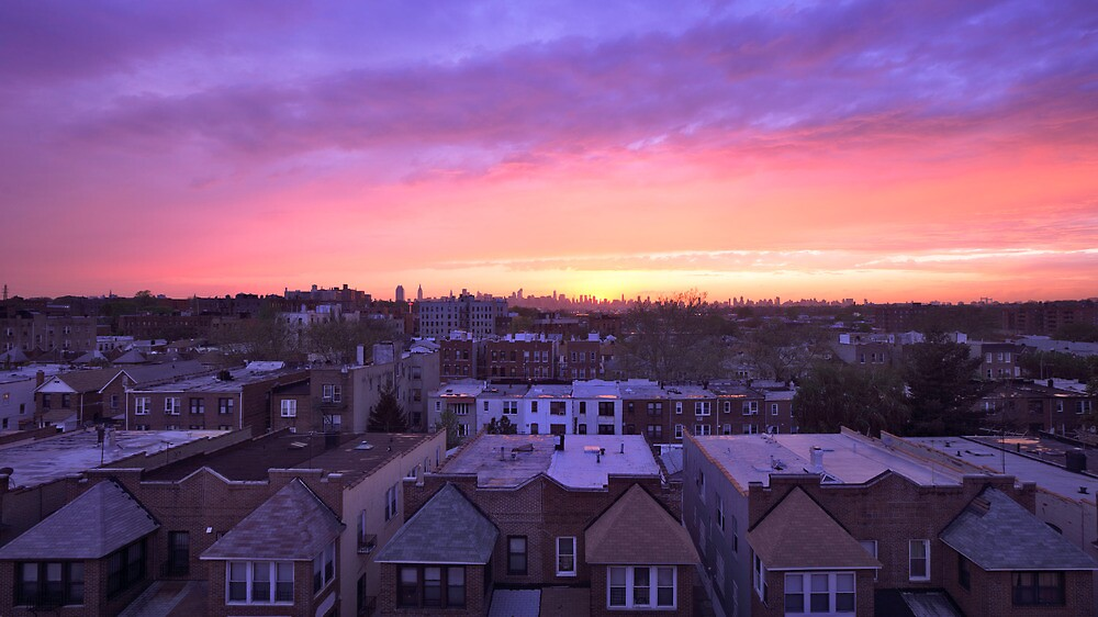 Manhattan in motion - Queens sunset by mindrelic