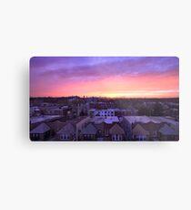 Manhattan in motion - Queens sunset Metal Print