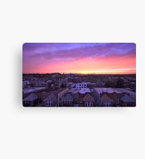 Manhattan in motion - Queens sunset Canvas Print