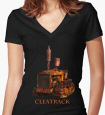 Cleatrack Cat..Tee Women's Fitted V-Neck T-Shirt
