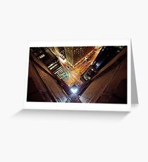 Manhattan in motion  Greeting Card