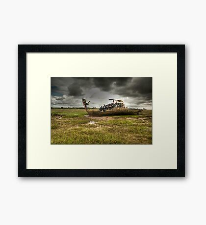 Grounded And Gutted Framed Print