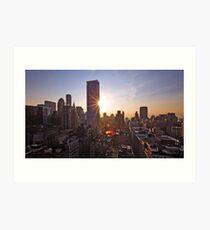 Manhattan in motion Art Print