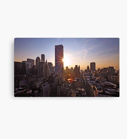Manhattan in motion Canvas Print