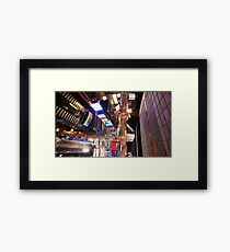 Manhattan in motion - Times Square  Framed Print