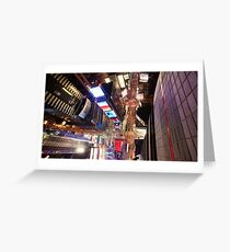 Manhattan in motion - Times Square  Greeting Card