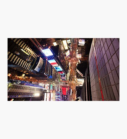 Manhattan in motion - Times Square  Photographic Print