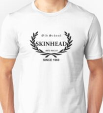 Old School Skinhead (in black) Unisex T-Shirt