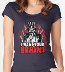 I want YOUR brains! Women's Fitted Scoop T-Shirt