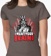 I want YOUR brains! Women's Fitted T-Shirt