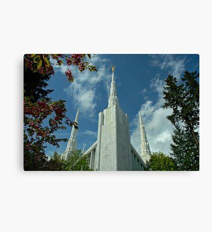 Portland Oregon LDS Temple Canvas Print