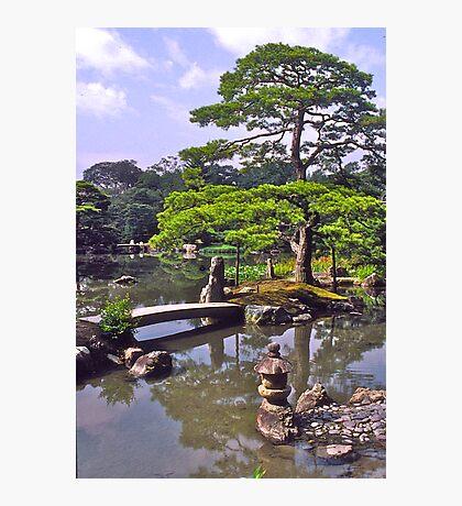 Moon viewing, Katsura Imperial Palace, Kyoto, Japan.  Photographic Print