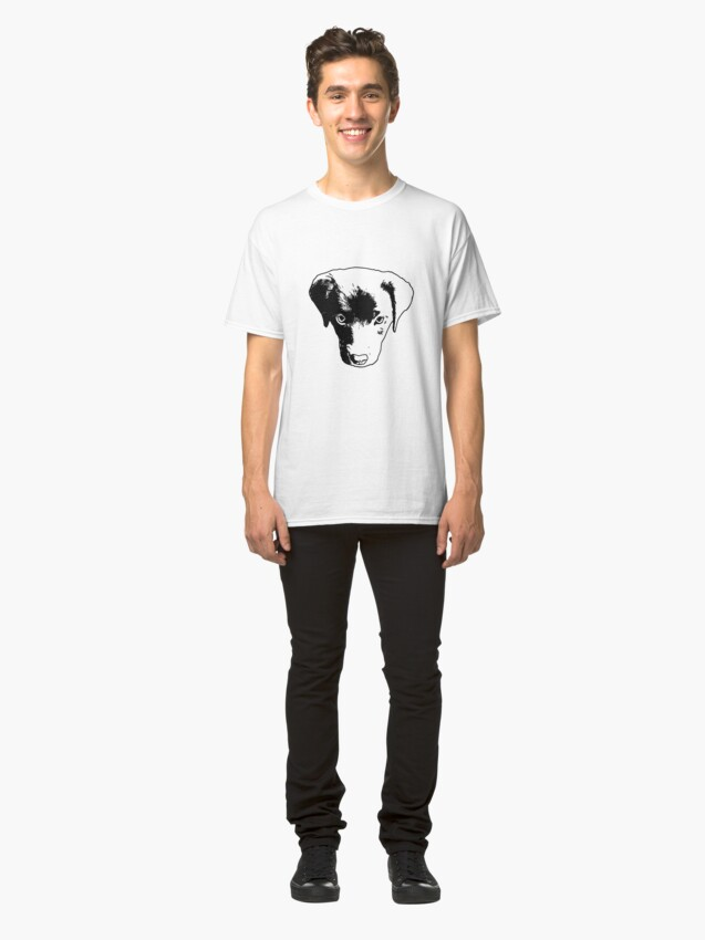 Alternate view of Monochrome Puppy Head Vector Classic T-Shirt