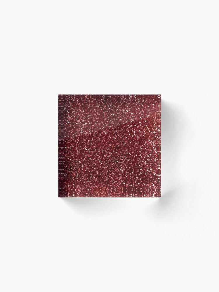 Alternate view of Sparkly Red Glitter Acrylic Block