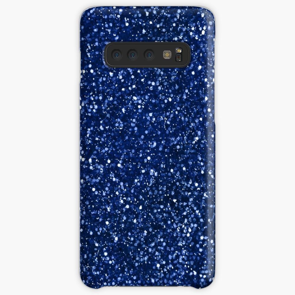 Sparkly blue Glitter Case & Skin for Samsung Galaxy