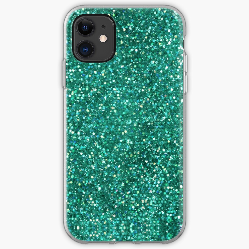 Sparkly Mermaid Green Aqua Glitter iPhone Case & Cover