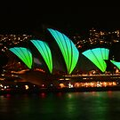Vivid Opera House from the bridge by Michael Matthews