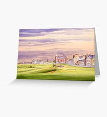 Saint Andrews Golf Course 17Th Green Greeting Card
