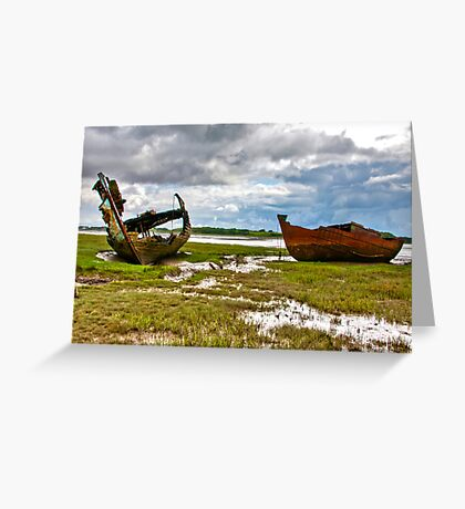 The Wrecks - Fleetwood Marsh Greeting Card