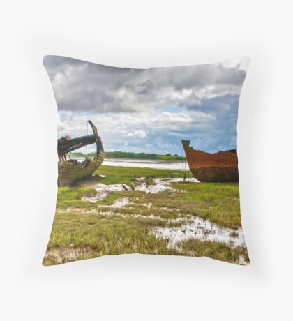 The Wrecks - Fleetwood Marsh Throw Pillow