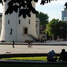 Cathedral place in Vilnius (My city) by Antanas