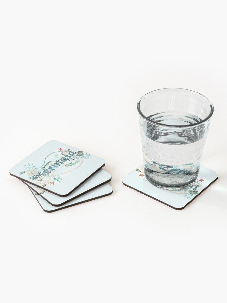 Alternate view of Mystical Mermaid Design Coasters (Set of 4)