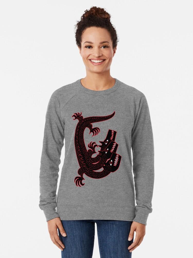 Alternate view of Three dogs Lightweight Sweatshirt
